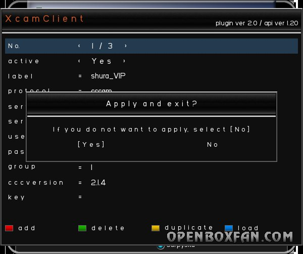 XcamClient-2 для всех Openbox серии S(4,5,6,7,8,9)