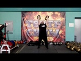Швунг гири 48 кг. Two hands anyhow - 96 kg. One-hand 48 kg kettlebell push press.