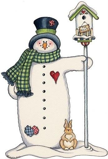 Забавные снеговички : Картинки для творчества… (6 фото) - картинка