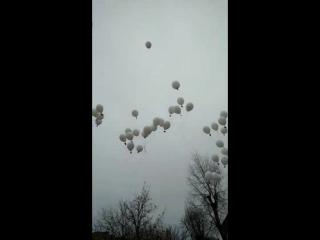 Наши воздушные шары на открытии памятного знака Радзивиловской Библии