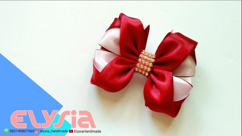 Laço Elegante   Ellegant Ribbon Bow   DIY by Elysia Handmade