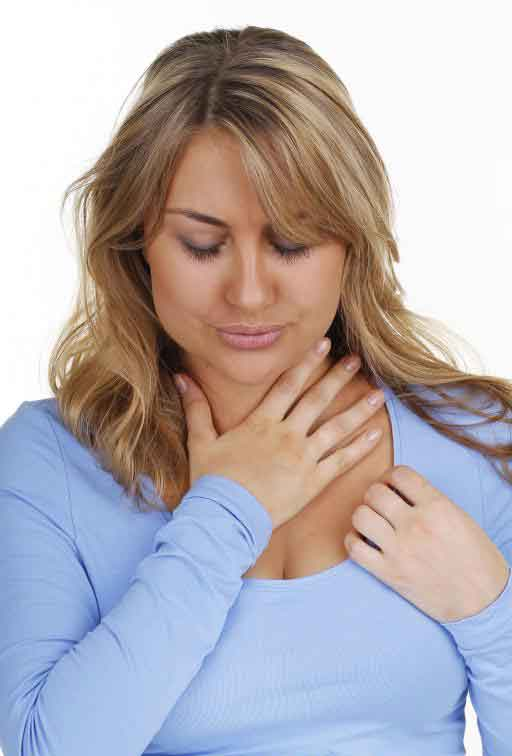Боль в горле может быть симптомом синдрома хронической усталости.