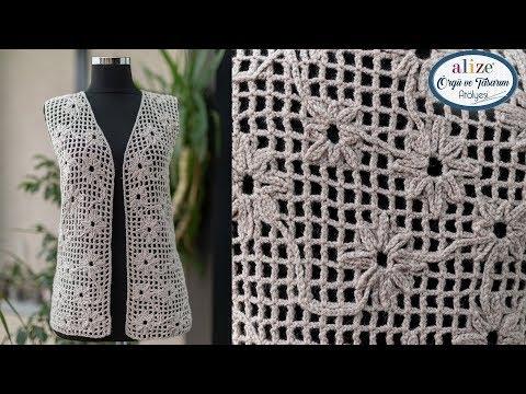 🔴 Rengi Rengine Yelek Yapımı - Making Tone-on-Tone Vest