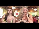 Flashing Boobs in the Restaurant For Money-Naked and Funny