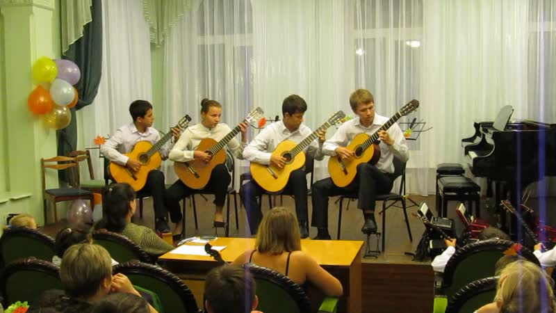 29 Старший гитарный ансамбль Отцвели хризантемы Н Харито Румба Е Поплянская