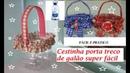 Cestinha porta treco de garrafa pet fácil reciclagem, artesanato