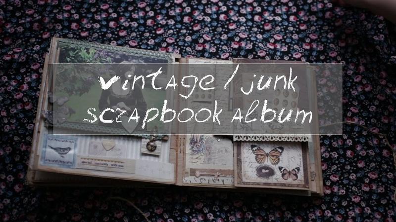 Scrapbooking vintage junk mini album