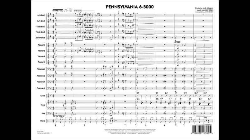 Pennsylvania 6-5000 arranged by John Berry