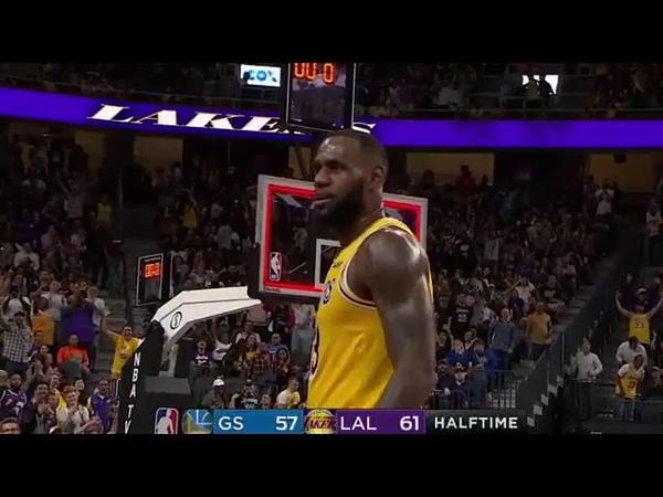 Lebron James Halftime Buzzer Beater Vs Golden State Warriors