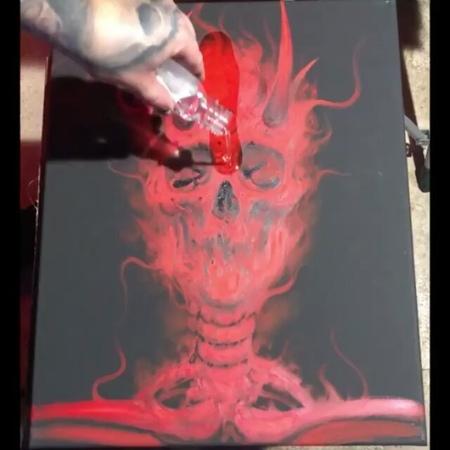 """Artist Imperium on Instagram: """"Art by @zackdunn_art art artwork dark darkart oilpainting demon devil evil hell skull skeleton creep ..."""