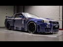Detailing nissan skyline R34 GT R Nismo Omori R tune chassis 001 by Autoreiniging Centrale