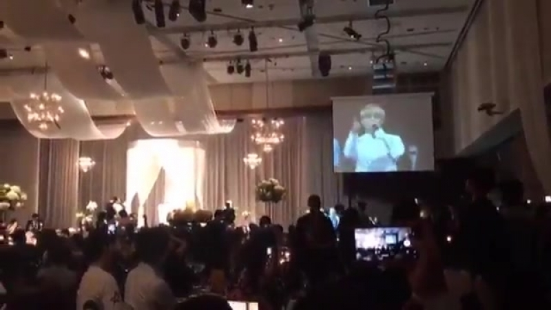 [NOTE] @BTS_twt - - Apparently BTS attended one of their manager's wedding and sang DNA. O