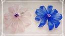 Lindas flores hechas con listón