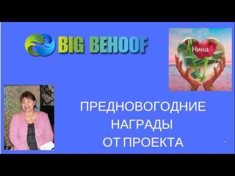 Проект BIG BEHOOF Предновогодние награды от проекта