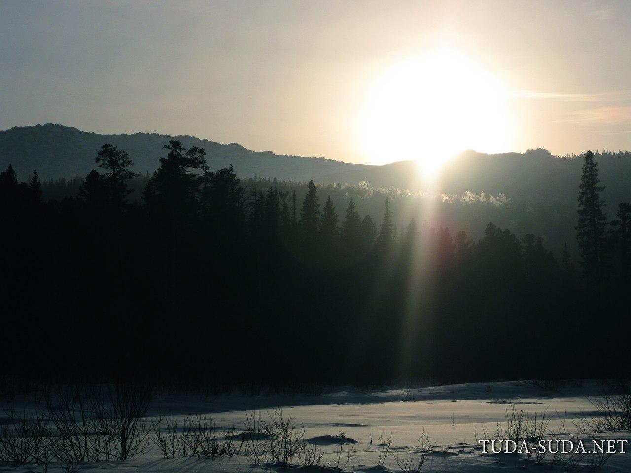 Закат Уральские горы
