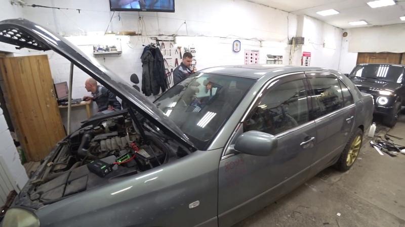 Заводим Toyota Celsior 4.3L без аккумулятора - SBASE T242