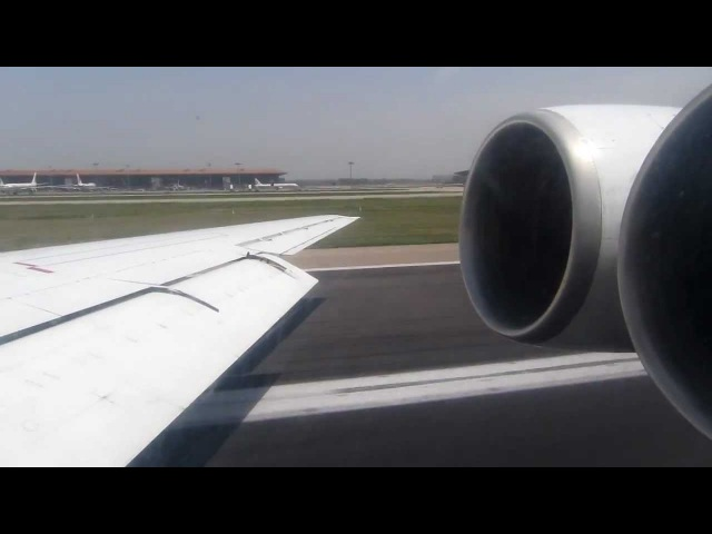 Air Koryo Ilyushin IL-62M P-885 Takeoff from Beijing - Window View