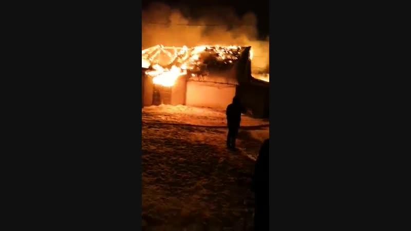 Пожар на оптовой базе в городе Сасово