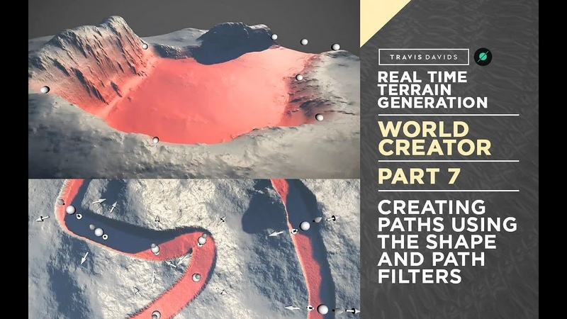 World Creator Introduction - PART 7 - Creating Paths Using The Shape Path Filters