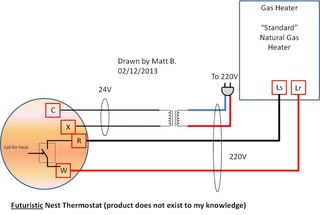 Схема термостата nest
