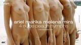 Ariel Marika Melena Mira 4 Nude Beach Nymphs