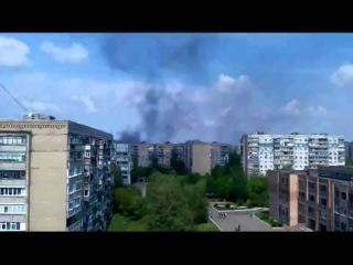 В Краматорске гудит сирена и слышны выстрелы 03.05.14