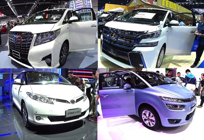 TOP 5 Luxury VANs 2016, 2017 Toyota Alphard, Vellfire, Previa Estima, Nissan Quest NV200, Citroen C4