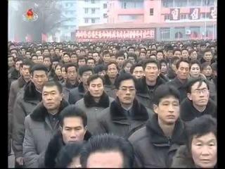 В КНДР проходят митинги в поддержку новогоднего телеобращения Ким Чен Ына.