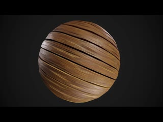 Stylized planks with mixer