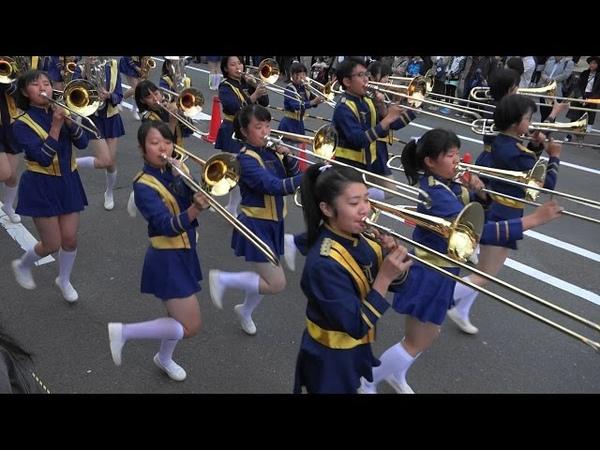 光のアートフェスタin 山科 オープニングパレード 京都橘高校吹奏楽部 Kyoto Tac