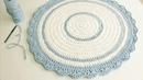 Tapete Redondo de Crochê Com Fio de Malha - Crochê Circular Perfeito - DIY - Tutorial de Crochê
