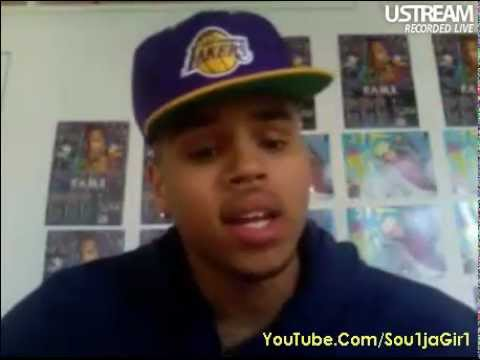 Chris Brown Live on Ustream 03/18/11 11:37AM Part 2