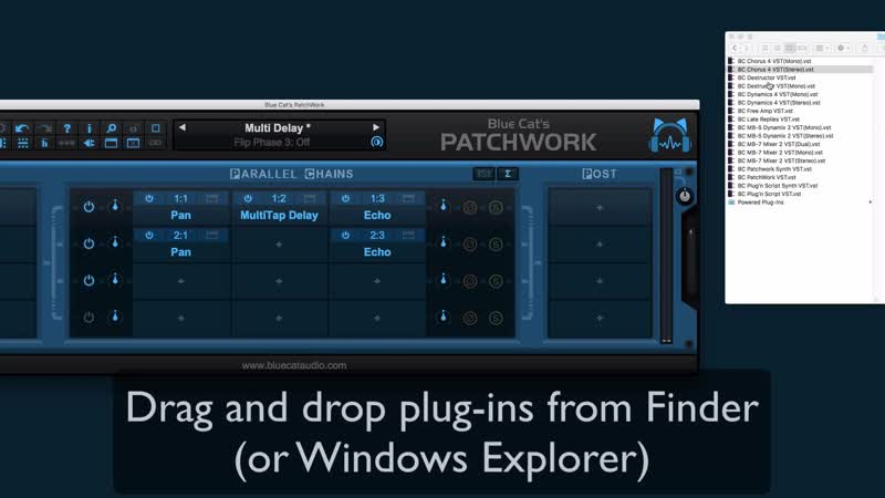 Blue Cats PatchWork 2.3 - Introducing Drag Drop For Plug-Ins
