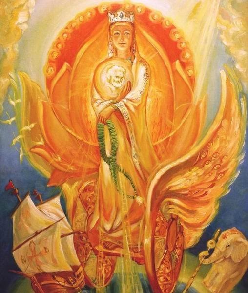 Божья матерь по небу ходила своего сына за руку