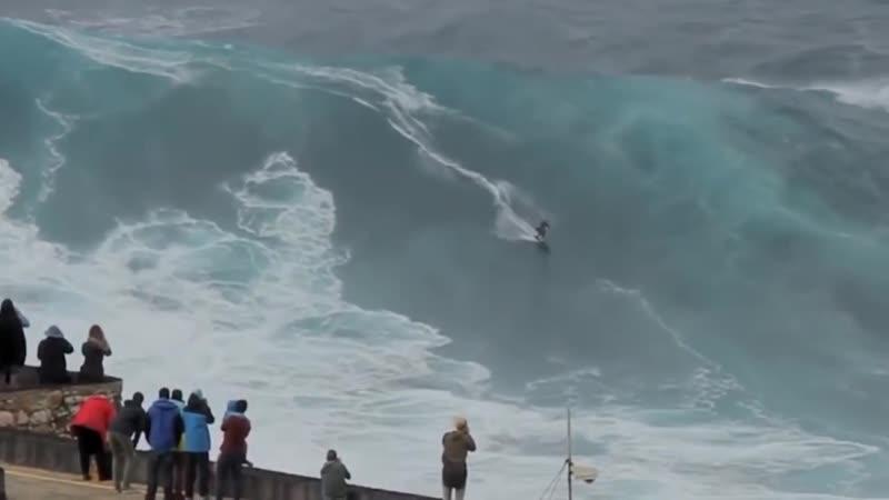 Самые большие волны в мире. (Португалия)