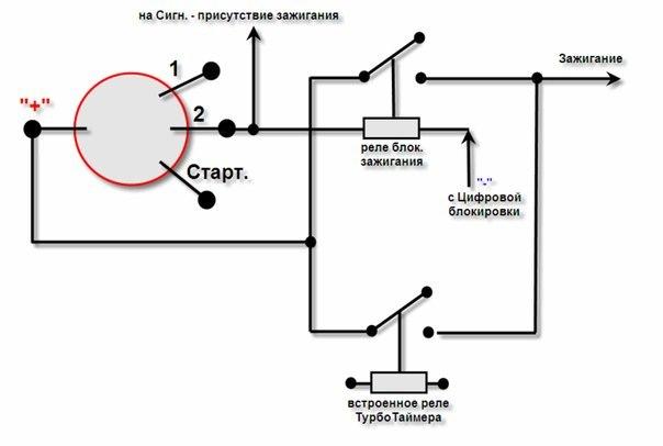 На картинке: схема подключения