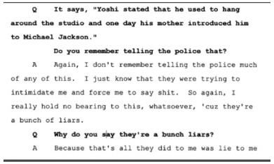 Показания Йоши Уейли, сына Джоли Левин (секретарь MJ)., изображение №28
