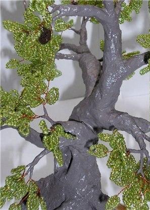 "15. дуб мк.  Дуб- дерево из бисера  ""В стране чудес "" ."