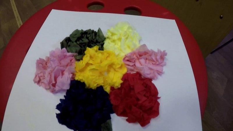 Мастер-класс Цветик-семицветик в технике торцевание