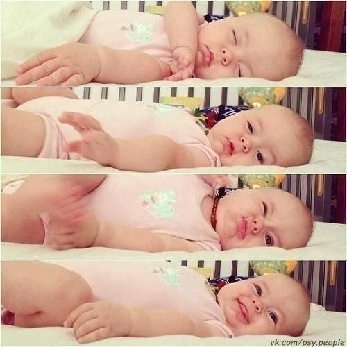 Пробуждение малыша:)