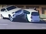 Black racist savages in action --while losing. lol Lady driver - Jeep &amp Carrjackers after she rammed them - Part 2 Outside the gate