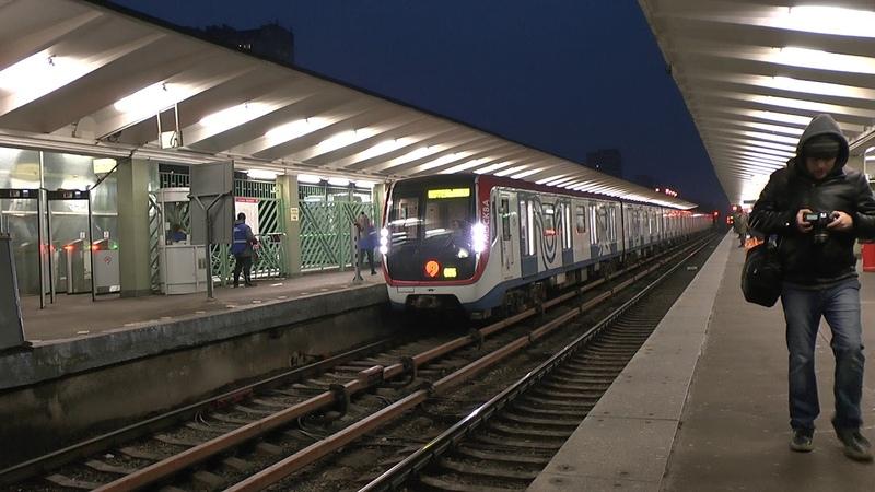 Метро Выхино метропоезд Москва