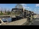 ايطالية شاب يضرم النار بــ حافلة طلاب بها 51 1591