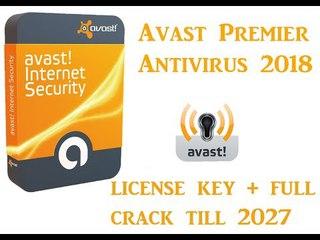 Avast Premier Antivirus 2018 license key + full crack till 2027