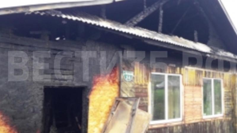 Жилой дом сгорел в Великоустюгском районе