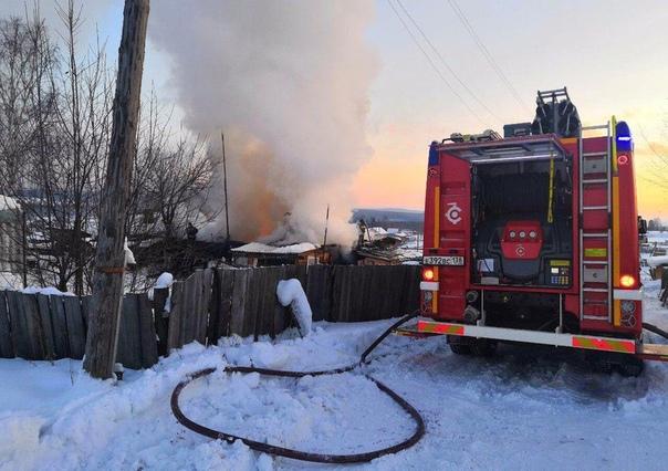 Пожар 21.01.2018 в п. Железнодорожный