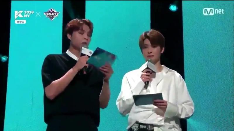 Jaehyun and johnny being MC at KCON NY (2018)