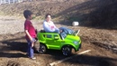 Teach Mom How To Drive Kia Soul Power Wheels Ride On Car On A Dirt Track