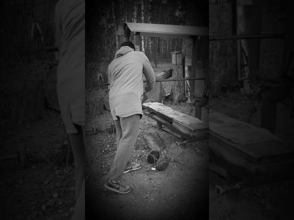Тренировки в лесах на площадке
