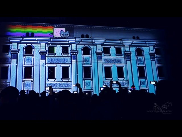 Проекционное шоу, Воронеж День города 2014